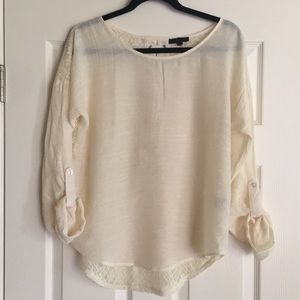 (Anthro) E Hanger M Ivory Top